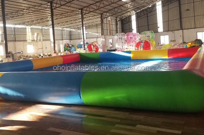 आउटडोर वाणिज्यिक पोर्टेबल inflatable स्विमिंग पूल