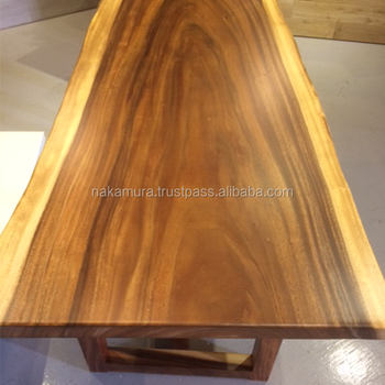 Beautiful Solid Wood Slab For Dining Table Top Made In