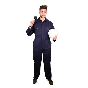 Men Zip Front Customized Coverall Working Uniform