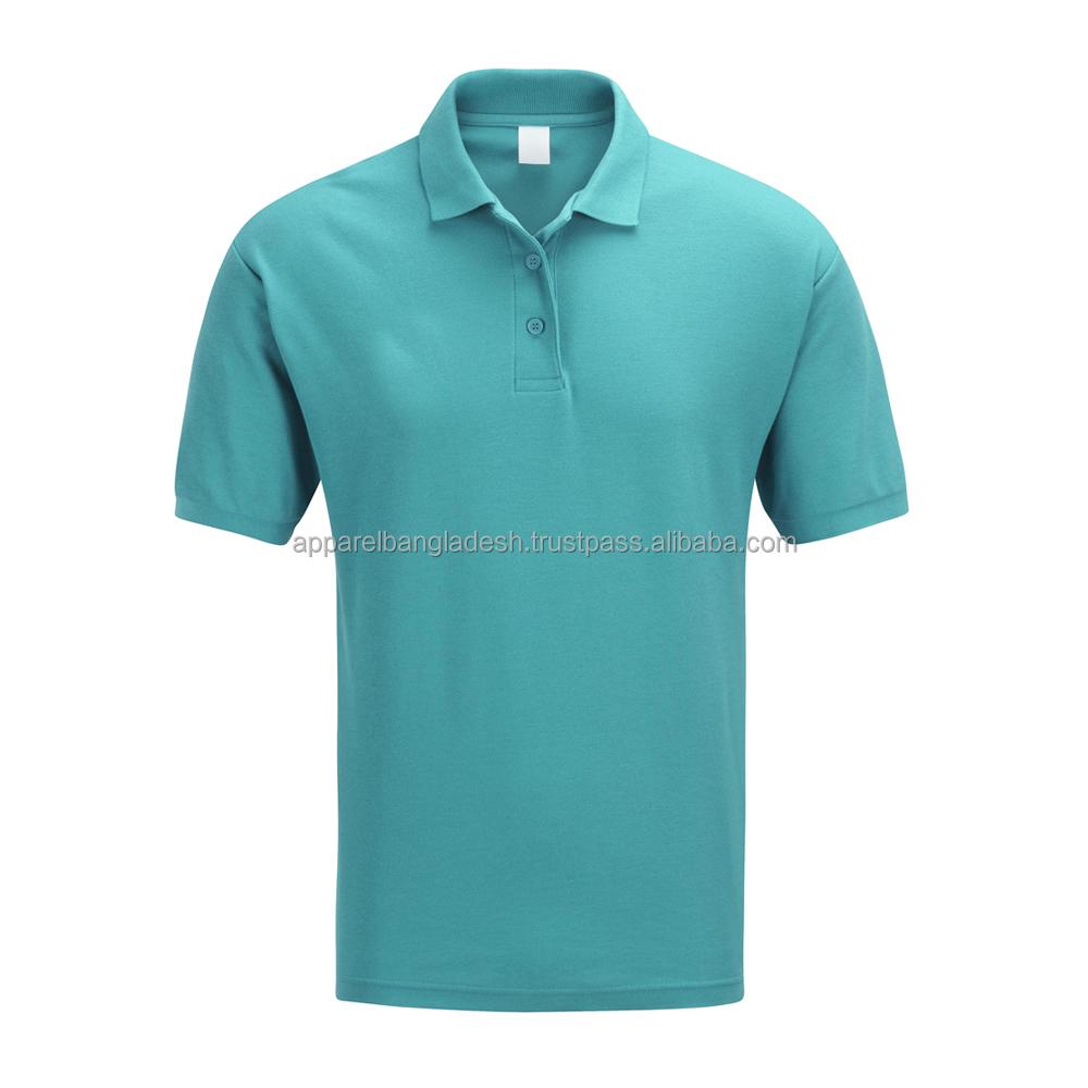 Cotton Pique Fabric Basic Polo Men's T Shirt