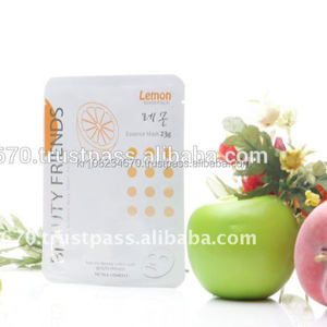 Lemon Facial Mask Sheet, OEM Face Mask, Anti Aging, Korean Brand cosmetics