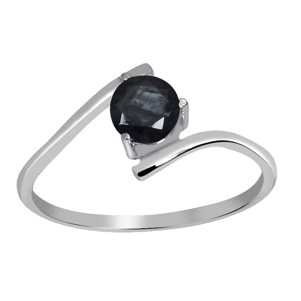 Sapphire Ring Sapphire Solitaire Ring Engagement Ring Sterling Silver Ring