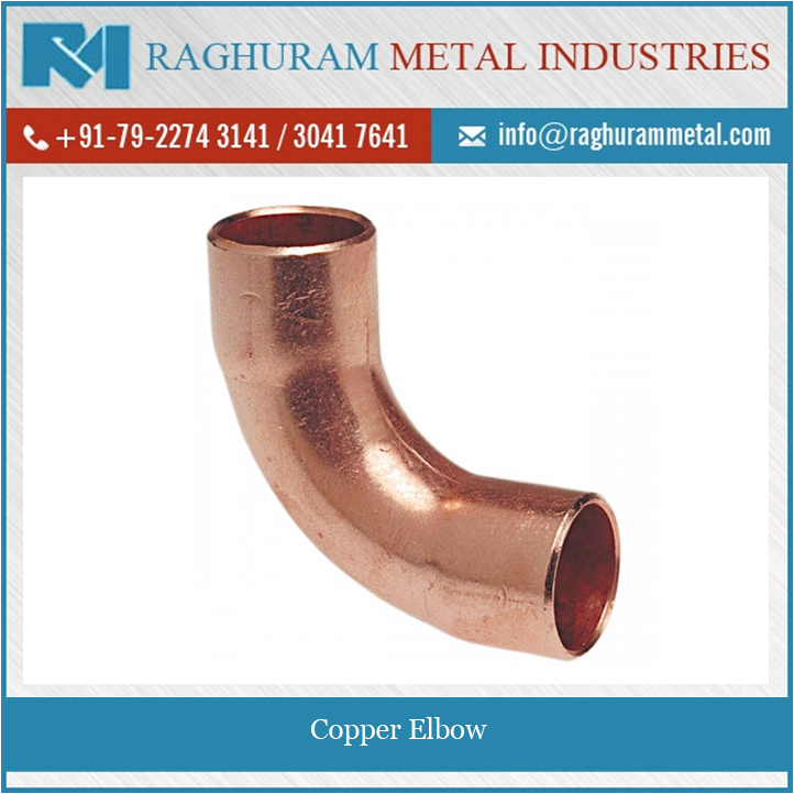 Cost Effective Rust Resistant Copper Elbow in Various Grades, Dimensions