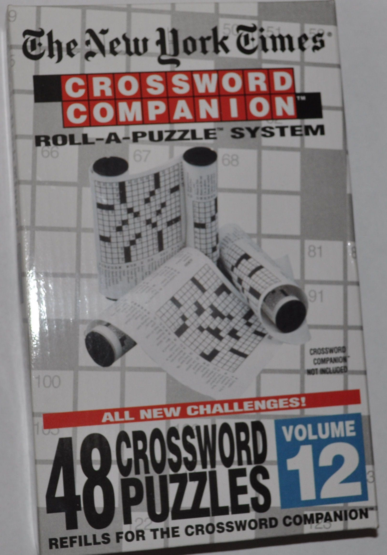 The New York Times: Crossword Companion Roll-A-Puzzle Refills Volume 12
