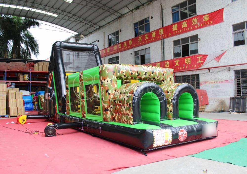 Call of Duty Black Ops Inflatable Assault Course Military Obstacle Course For Sales
