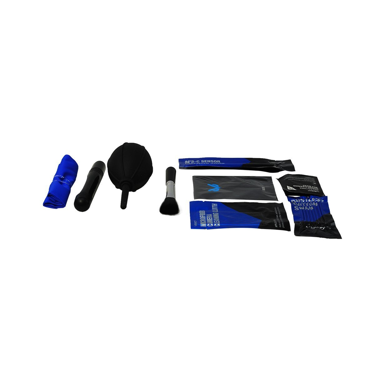 BoliOptics Camera Cleaning Kit Essential Package for DSLR and Sensitive Electronics: APS-C Sensor and Cotton Swab, Lens Pen, Lens Brush, Wet Wipes, Lens Cleaning Paper, Microfiber Cloth, Air Blower