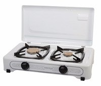 Desktop gas LPG double stove Pn23 with enamelled body