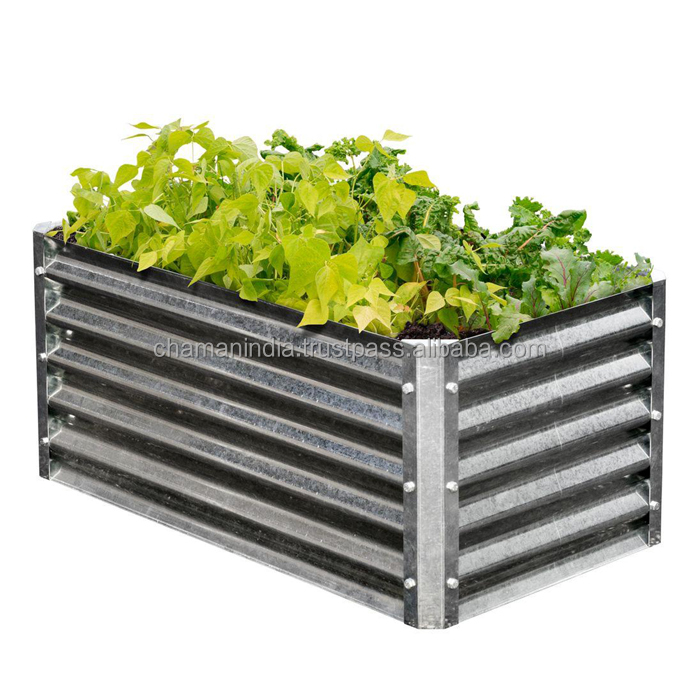 Home & Garden Other Gardening Supplies Latest Collection Of Galvanized Steel Raised Garden Bed 90x90x30cm