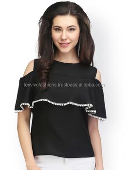 05d6dc10ea87f Black Shoulder Cut Style Top - Buy Shoulder Cut Tops