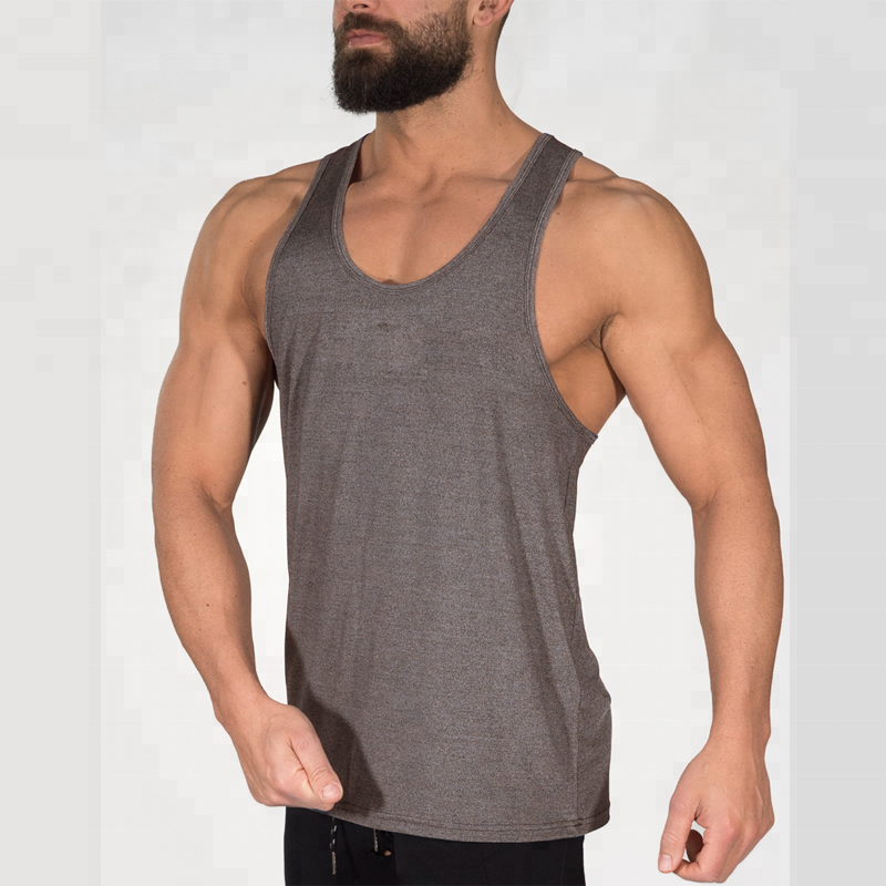 Tops & Tees Tank Tops Earnest Male Gym Bodybuilding Sleeveless Tank Top Men Sport Cotton Blended Solid Mens Vest Training Workout Summer Fitness Exercise 100% Guarantee