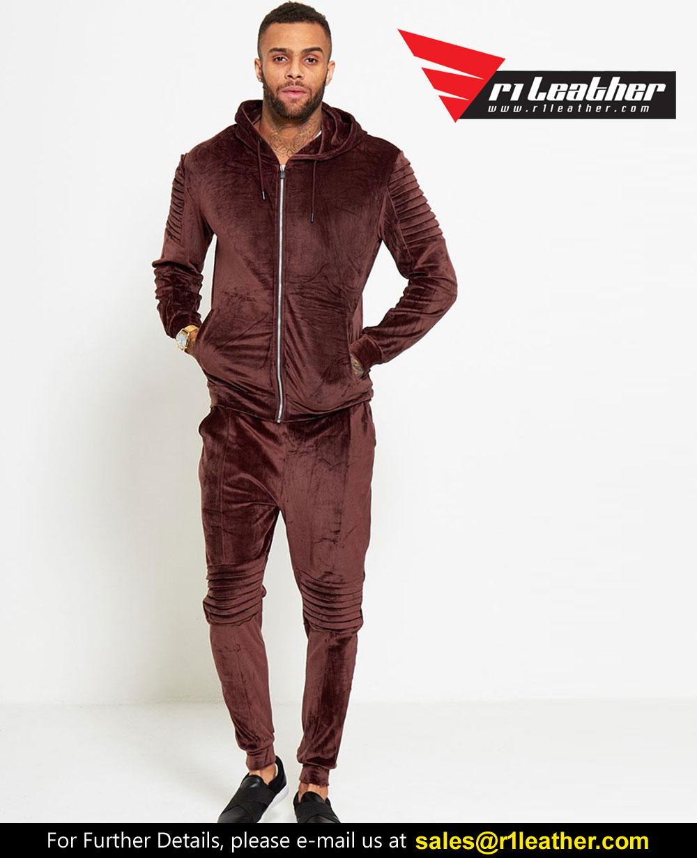Fashion Hoodies 2 Piece Set Women Tracksuit Pockets Zipper Drawstring  Top+Pant
