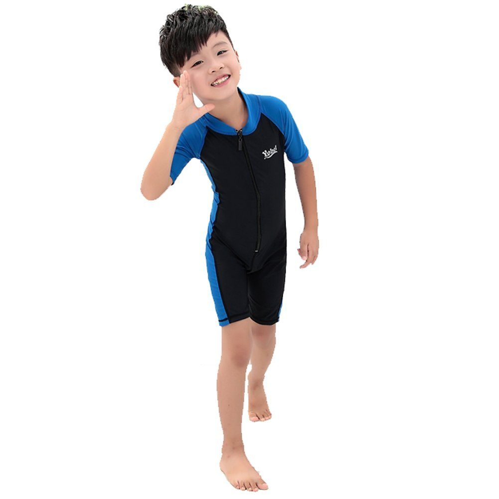 Get Quotations · Saymequeen Kids Wetsuits UPF 50 UV Short Sleeve Surfing  Swimwear One-Pieces d73dfad8d