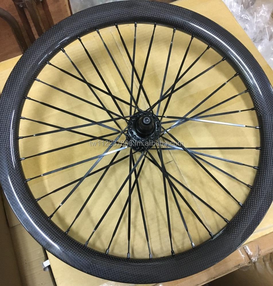 roue bmx race carbone