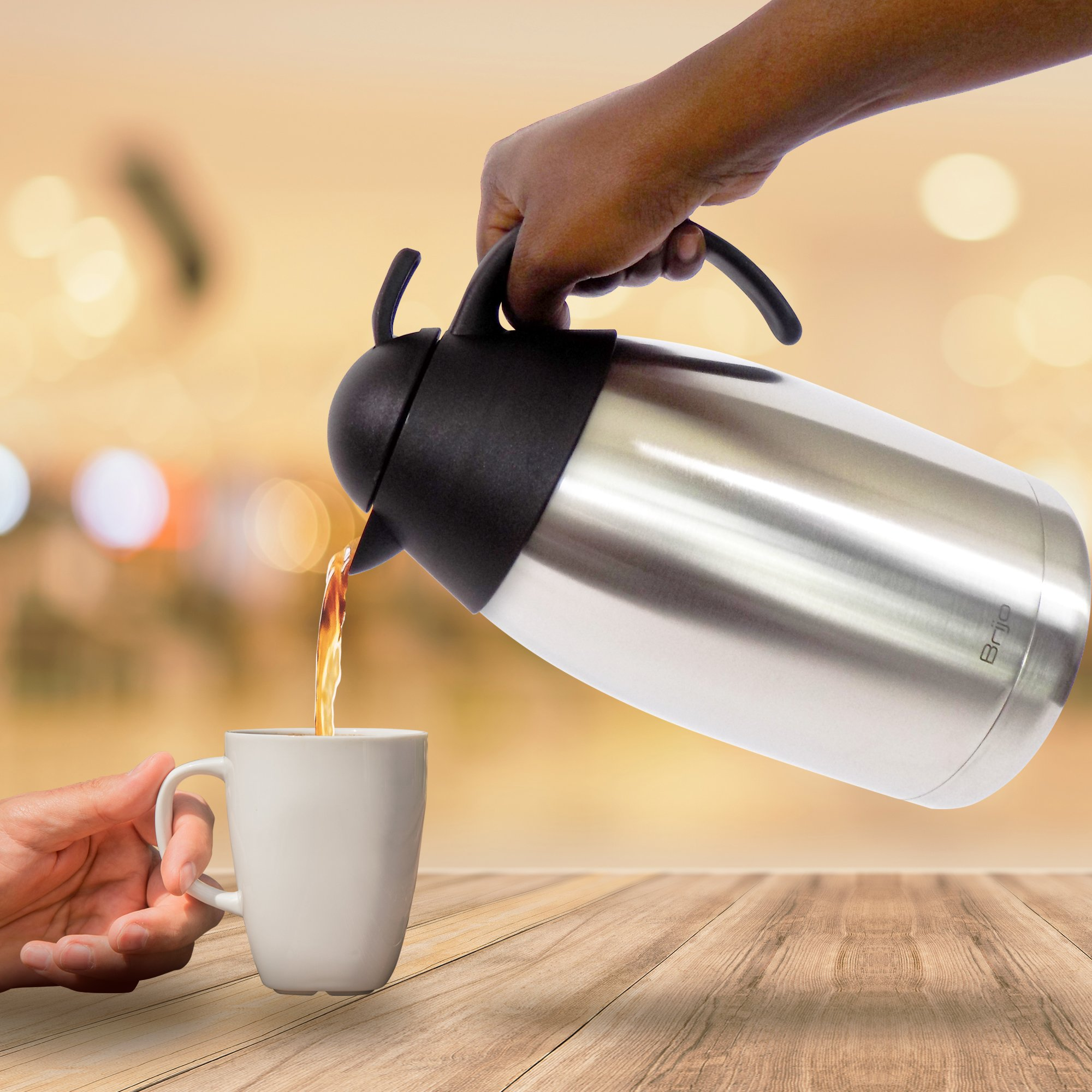 Get Quotations Coffee Thermos Thermal Carafe Large 12 Cup 68 Oz 2 Liter Capacity Stainless Steel