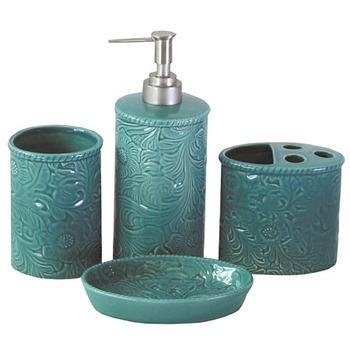 Green Stone Marble Bathroom Accessories