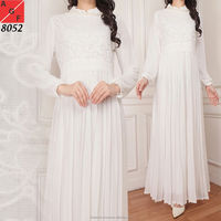 Beautiful Abaya Jalabiya White Dress for Wedding Attendants or Umrah/Hajj
