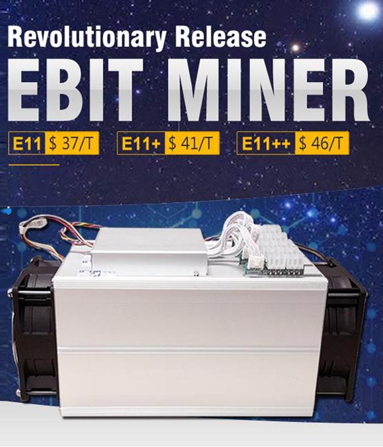 Ebang Ebit E11++ Hashrate 44th/s Btc Miner Bitcoin Digging Machine Bch  Miner - Buy Ebit E11++,Bch Miner,Ebit E11+ Mining Machine Product on