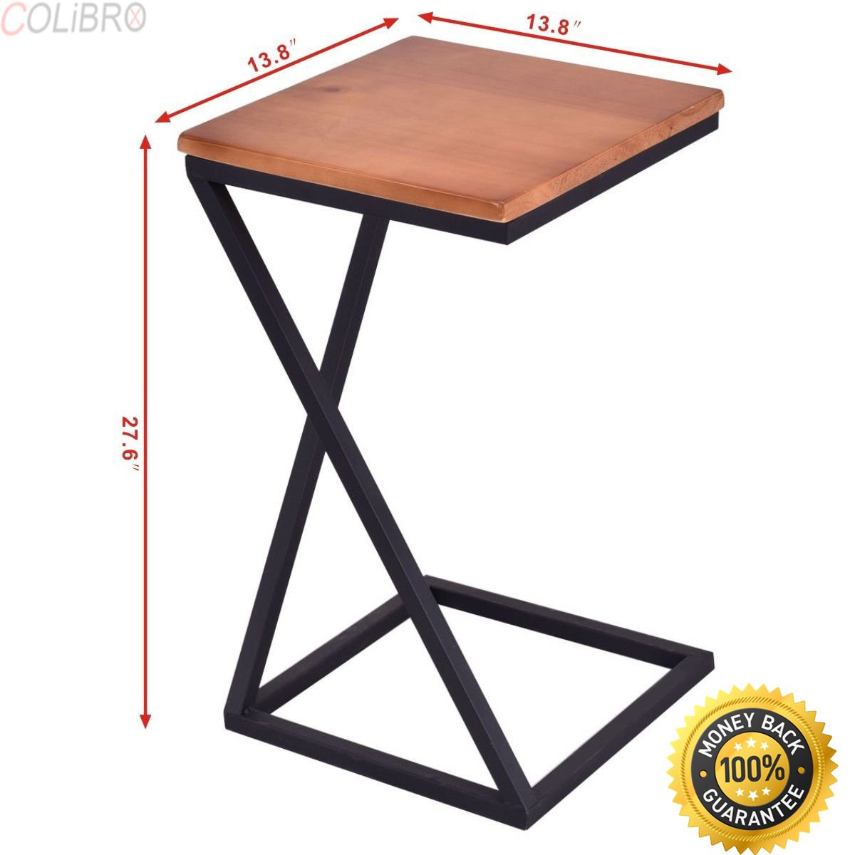 COLIBROX--Coffee Tray Side Sofa Table Ottoman Couch Console Stand End TV Lap W/Wood TOP Yaheetech Coffee Tray Side Sofa Table Ottoman Couch Room Console Stand End TV Lap Snack