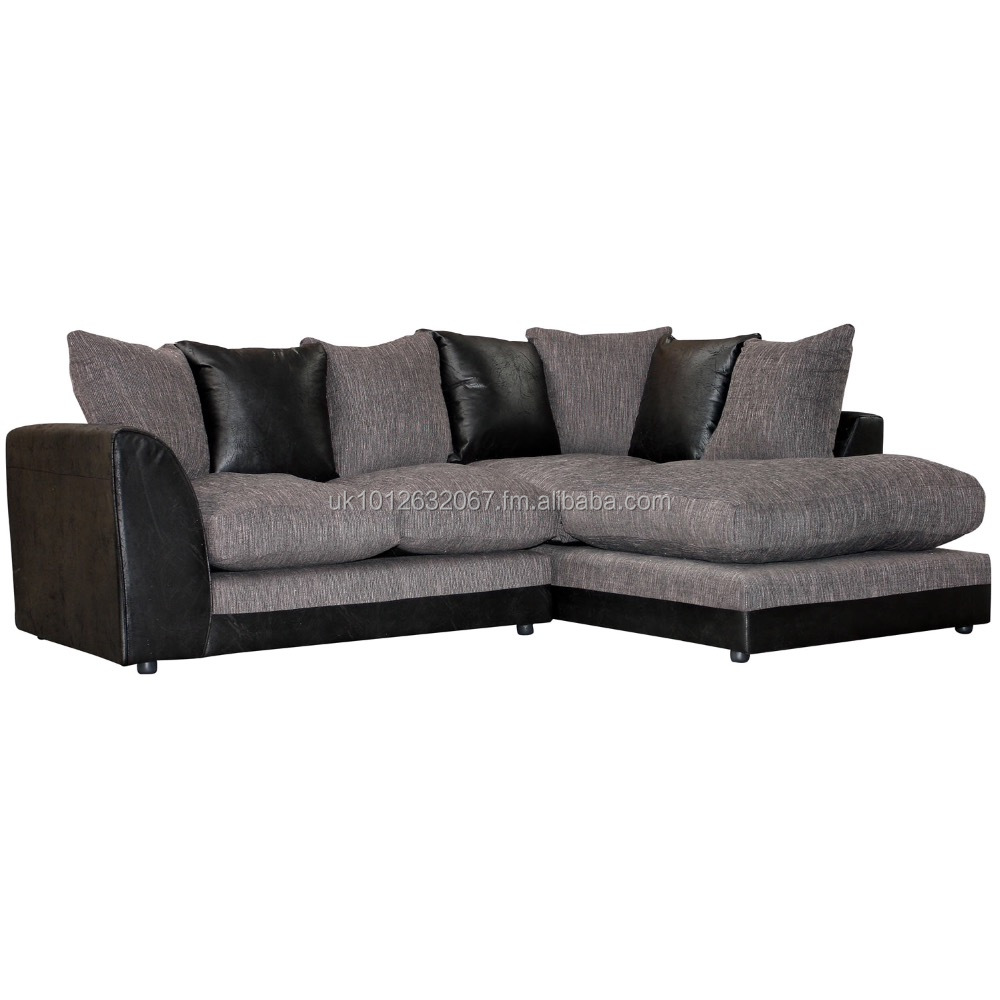 Dylan Corner Sofas Uk Fireproof Spec. 145.00 (trade Only) Black/grey Or  Brown/ Beige - Buy Corner Sofa Product on Alibaba.com