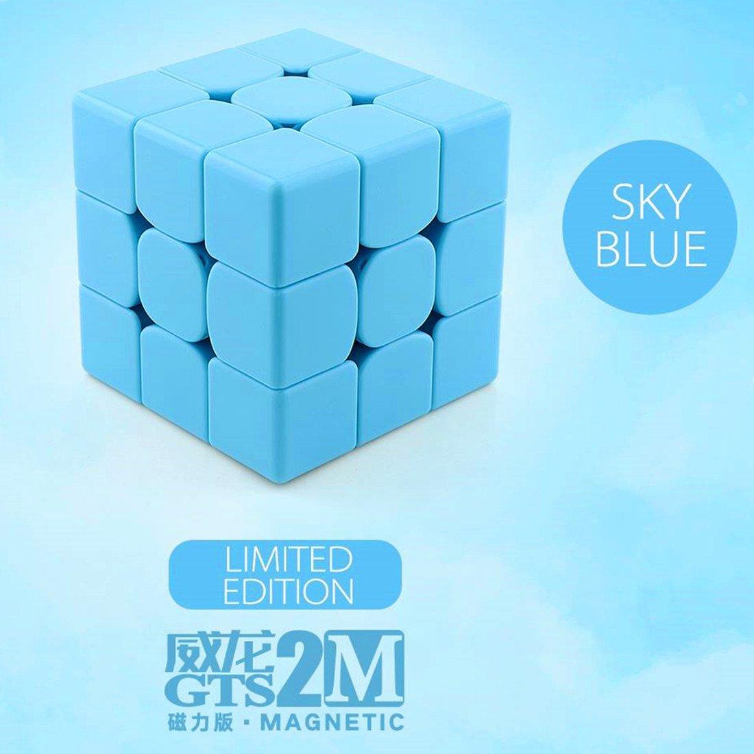 CuberSpeed MoYu WeiLong GTS2 M Blue 3x3 Magic cube magnetic MoYu WeiLong GTS V2 magnetic blue 3x3x3 Speed cube Puzzle