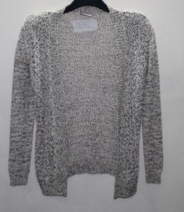 Ladies long slv. Open cardigan fancy yarn knitted Sweater