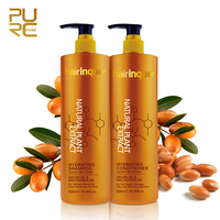 For dry and damaged hair fully nourish OEM sulfate free shampoo include natural argan oil macadamia oil ingredient