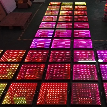 China high quality dj stage light wedding video 3d glass led dance floor