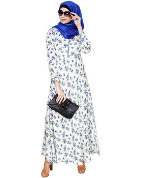 Wholesale Abaya from India Multi Color Printed Maxi Dress Muslim Dress Islamic Clothing