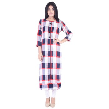 62e653d868f7 Vihaan Impex Latest Design Pure Cotton Fabric Long Pattern Stylish Kurti  Dress For women kurta