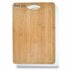 "9"" W x 5/8"" H x 12-3/4"" L Bamboo Plastic Cutting Board - bamboo side for carving meat, plastic side for slicing poultry and fish"