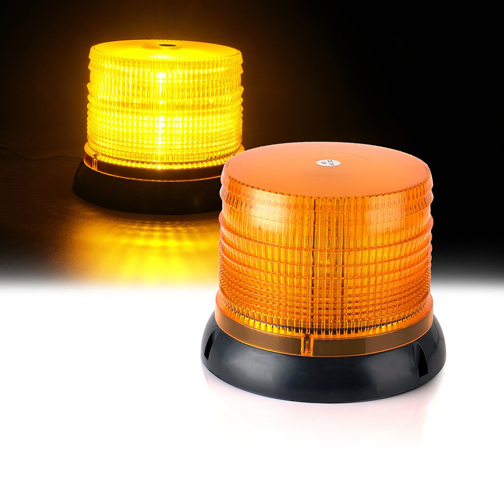"""Xprite 6"""" 14 Modes High Intensity Yellow(Amber) Revolving 12 LED 36W LED Emergency Vehicle Magnetic Mount Strobe and Rotating Beacon Warning Light"""
