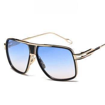 2019 Factory Price Wholesale Retro Classic Glasses UV400 Protection Custom Metal Vintage Oversize Mens Fashion Cool Sunglasses