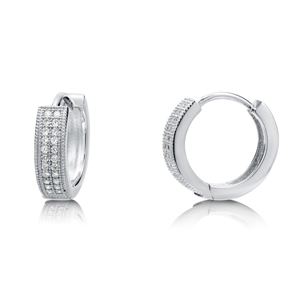 Golden Or White Gold 925 Silver Stud Earrings For Men And Boys ...