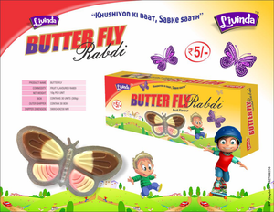 HIGH QUALITY MIX FRUIT FLAVORED CREAMY PASTE IN BUTTER FLY SHAPED PACKING