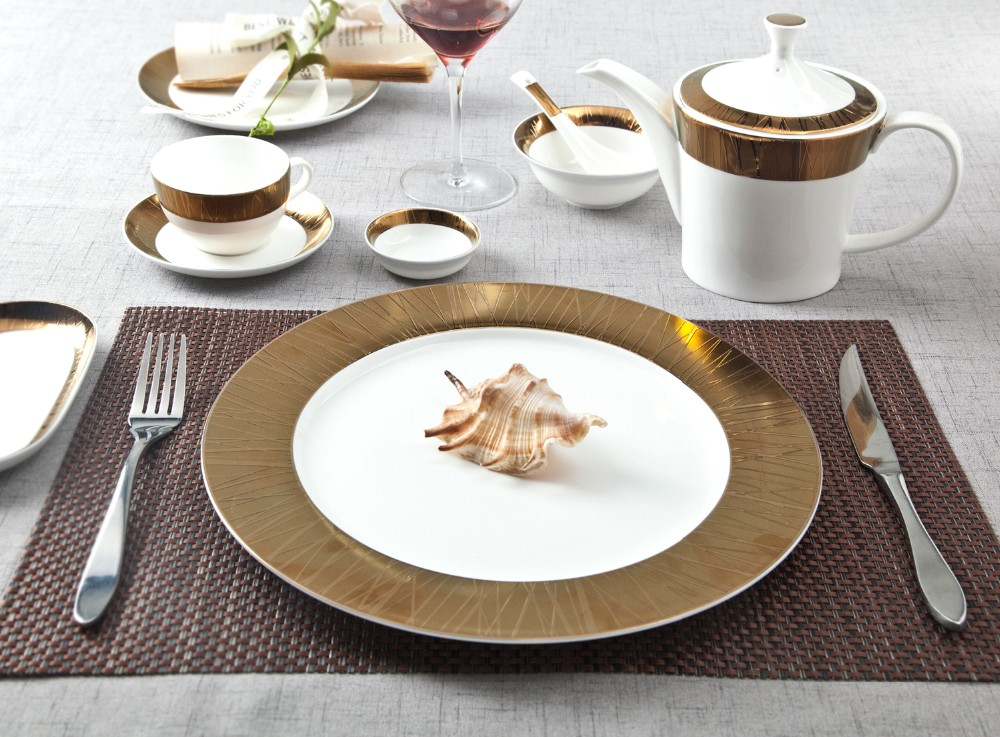 product-hotel and restaurant white ceramic dinnerware set matt white tableware set-Two Eight-img-2