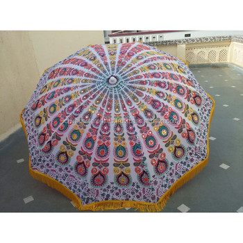 Garden Umbrellas In Tribal Embroideries