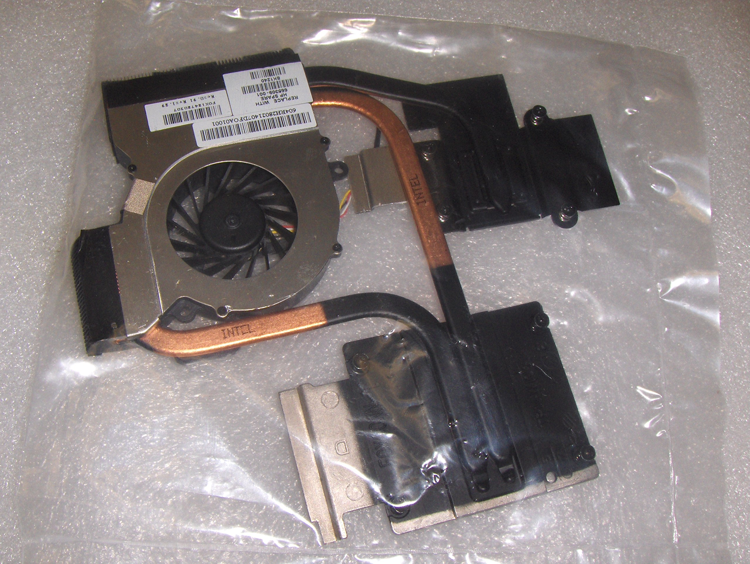 c2253bdccbd Get Quotations · 4 PIN CPU Cooling Fan with Heatsink compatible with HP  P N  665309-