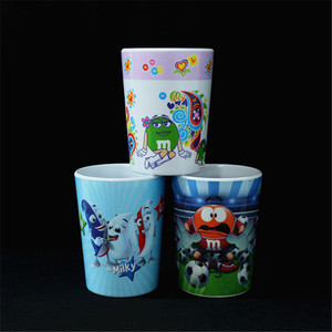 Chinese Style High Quality Material Melamine Custom Printed Plastic Cup