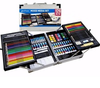126PC Aluminum Box Mixed Media Art Set
