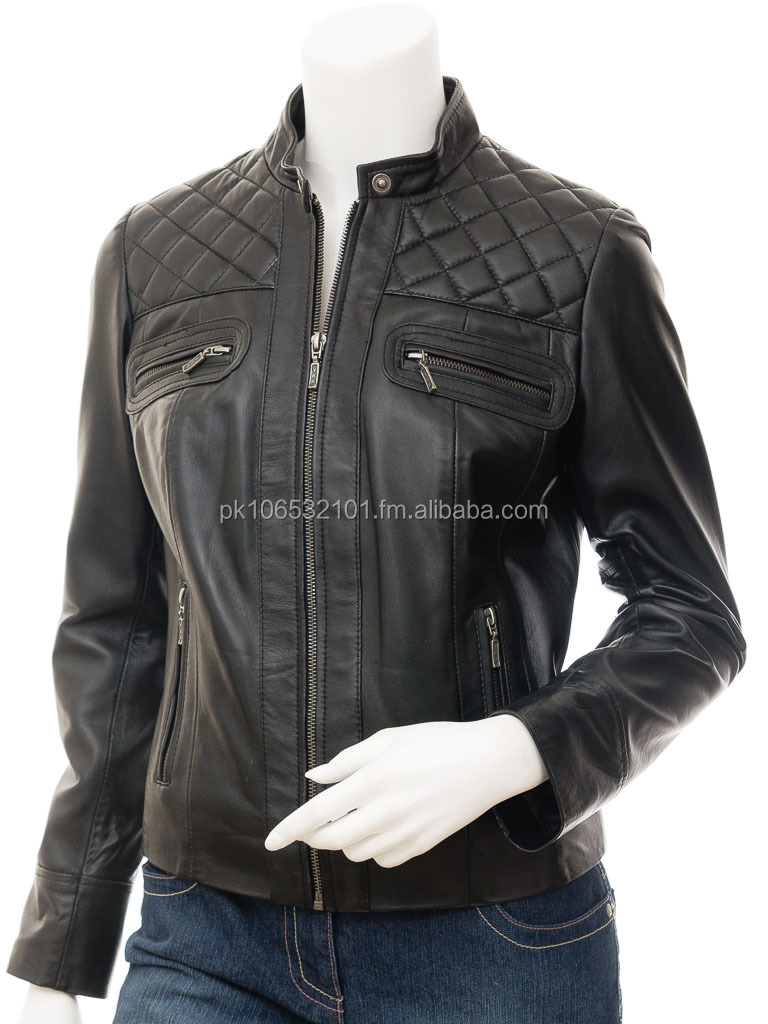 A LEATHER JACKET FOR WOMEN LAMB LEATHER JACKET