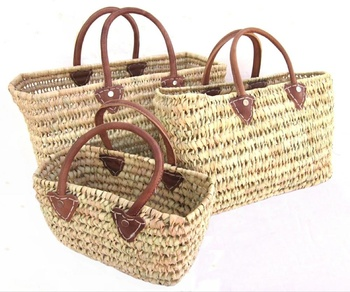 Authentic Handmade Straw Baskets