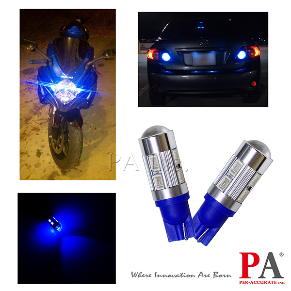 PA Automobile t10 wedge tail side Light 12V 10 SMD 5630 LED Lens #555 194 168 w5w car t10 led indicator light