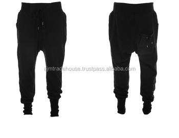 Mens casual pantalones harem pantalones hombres negro moda Swag danza gota  entrepierna hip hop sudor Pantalones 52afad7dcb6