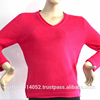 roll v neck cashmere women sweater