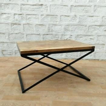 industrial vintage metal wood cafe table vintage mango wood