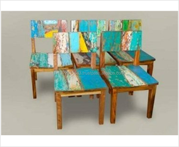 Reclaimed Wood Dining Chair Reclaimed Wood Multi Color Dining Chairs