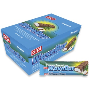 WaveBar Coconut: Compound Chocolate Bar Filled with Coconut Flavored Cream