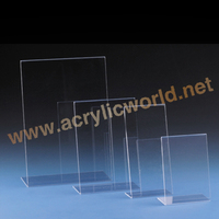 New design Plastic acrylic bar menu holders/table tent stand