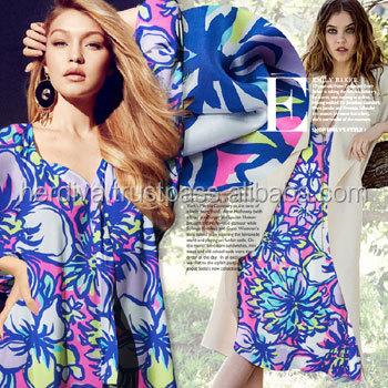 Digital Printed Fabric For Women Clothing Dress Blouse Long Sleeve Top  Shirt Pant Skirt Oem Printing Custom Design Service Odm - Buy Printed