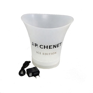 New Personalized Insulated Acrylic Plastic Champagne Wine Beer Led White Ice Bucket